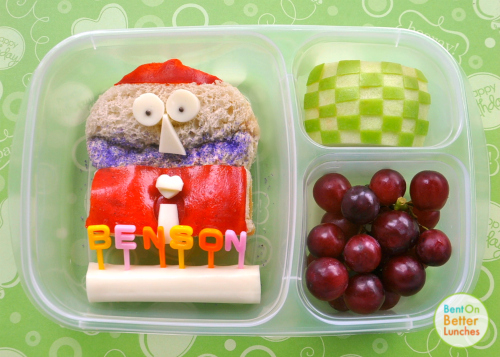 Benson from Regular Show bento by Bent On @BetterLunches