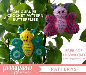 2000 Free Amigurumi Patterns: Free butterflies crochet pattern