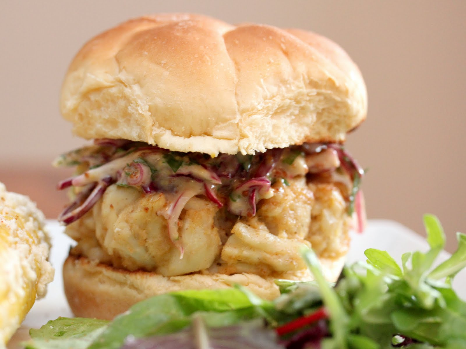 ... most of summer kick i give you the creole crab burger the recipe for