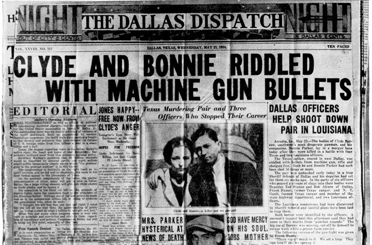How many people were killed by Bonnie and Clyde?