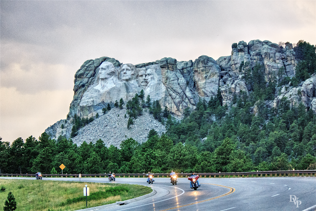 Mount Rushmore and Motorcycles - Just Meant to Be by Dakota Visions Photography