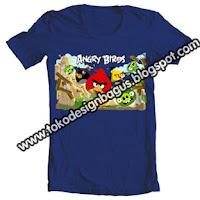 kaos t-shirt oblong dewasa gambar angry birds