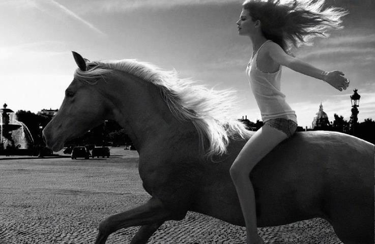girl and horse: