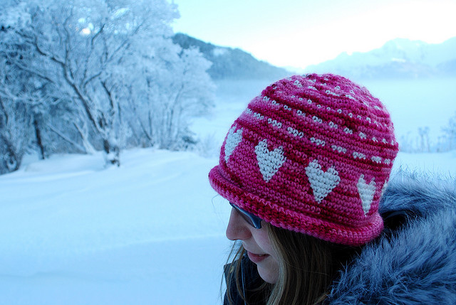 Free Crochet Heart Hat Pattern : knitnscribble.com: Easy hat patterns with photos!