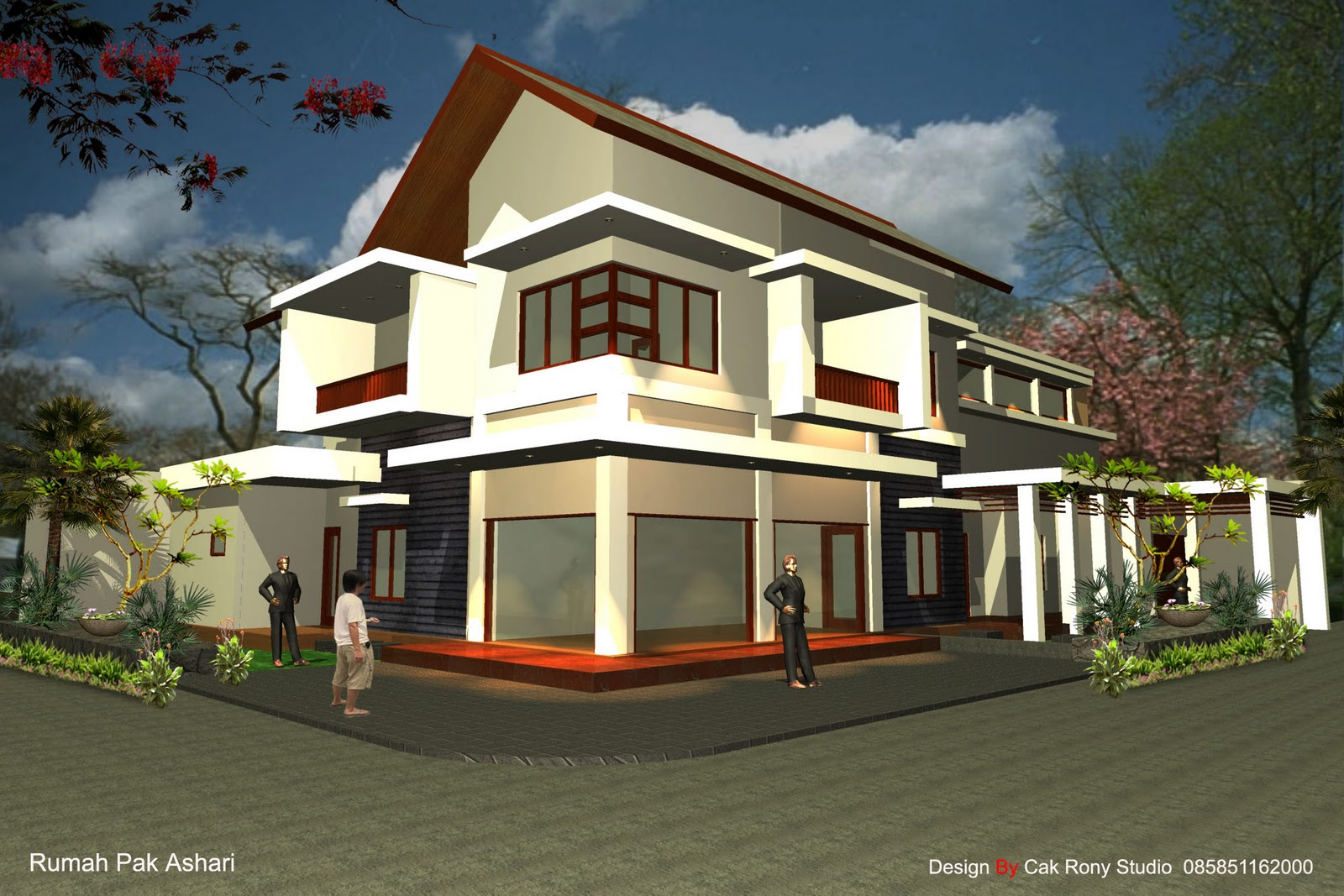 Home design exterior from back to front exterior designs for Front house exterior design