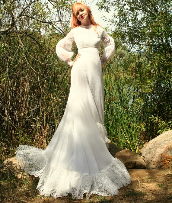 Vintage 1960s Wedding Dress - Affordable 1960s Wedding Dresses