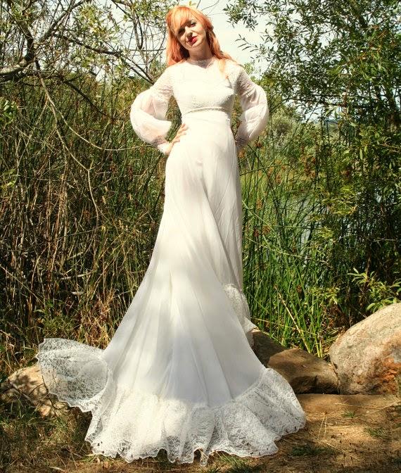 Vintage 1960s Wedding Dress - Affordable 1960s Wedding Dresses