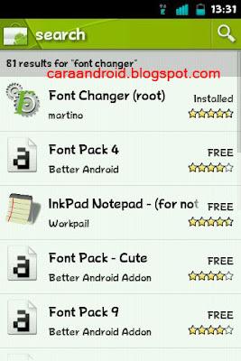 Cara Mengganti Fonts Android Langsung Dari HP Dengan Fonts Charger