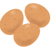 茶色い卵のイラスト