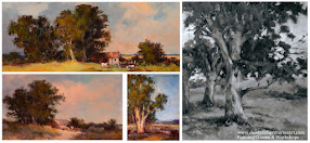 Landscape Demo:  Painting trees and fields:  Sat 29 Jul 2017