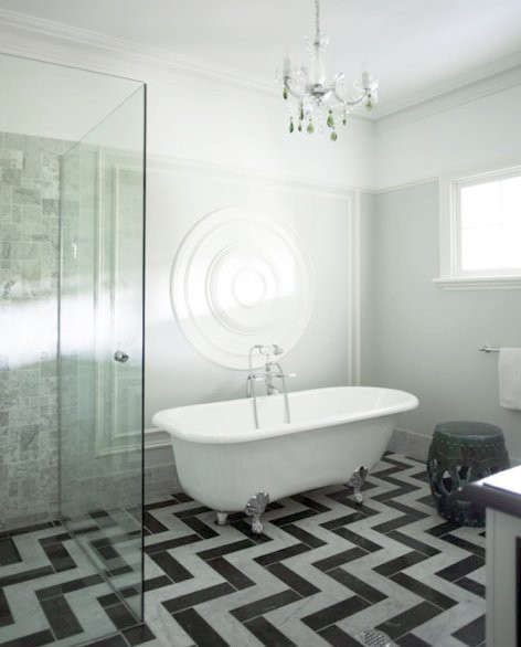 To Da Loos 6 Chevron Patterns To Point Your Washroom