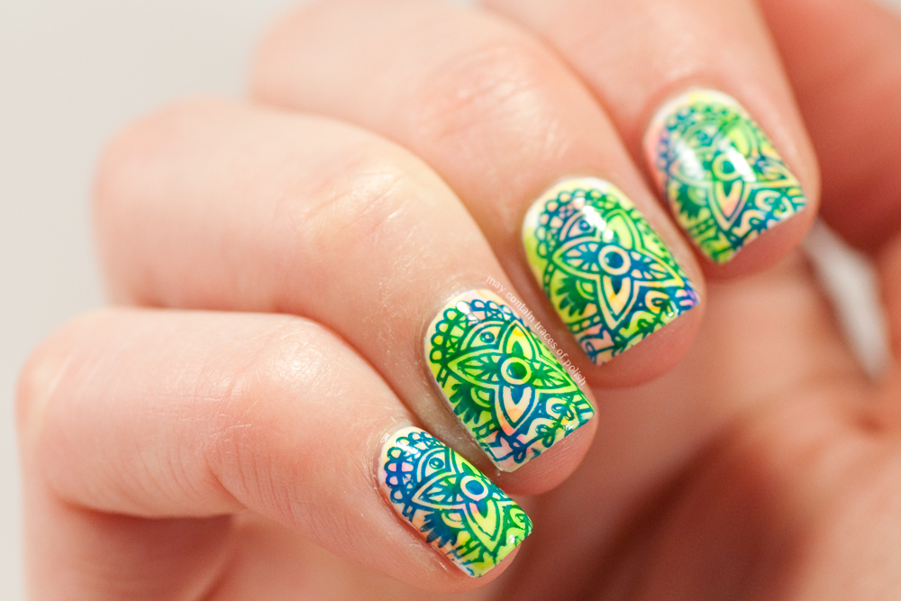 Sharpie Henna Style nail art - May contain traces of polish