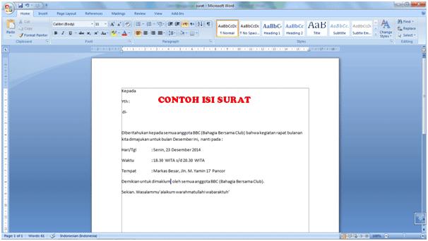 Cara Menggunakan Fitur Mail Merge Di MS. Word 2007 1