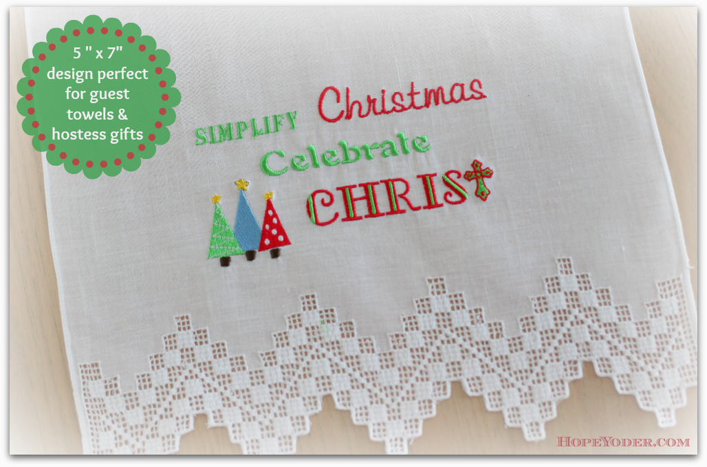 Hope Sew HopeYoder FREE Christmas Embroidery Design
