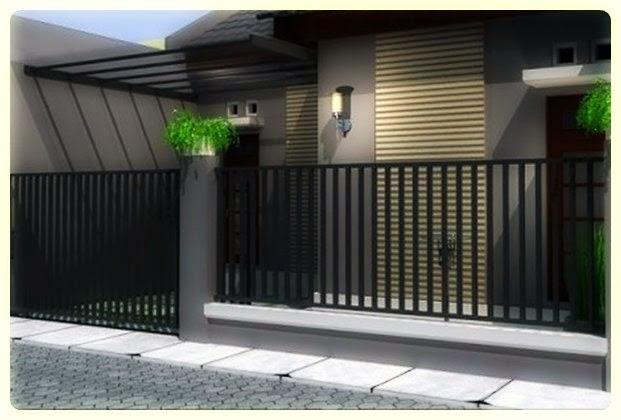 contoh pintu pagar minimalis, gambar pintu pagar minimalis