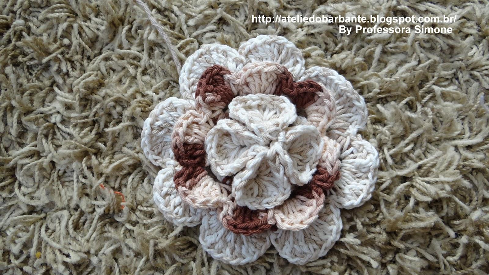 Coleção de Flores da Professora Simone - Ateliê do Crochê