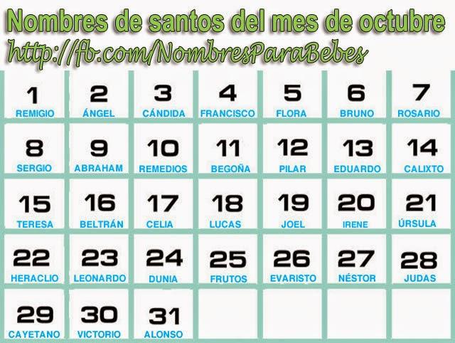 Calendario Con Nombres De Santos | newhairstylesformen2014.com
