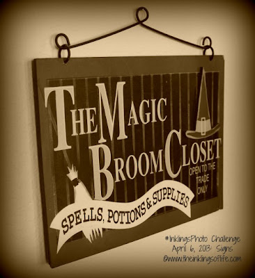 Magic Broom Closet Sign