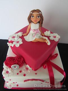 bolo primeira comunhão bragança menina doces opções