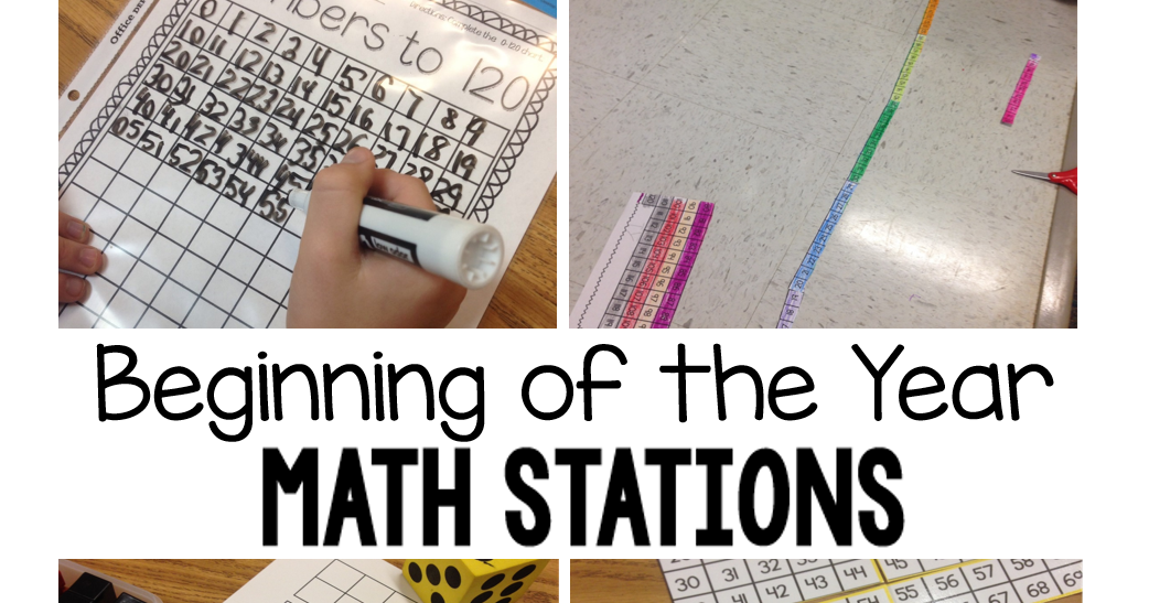 Crazy for First Grade: Beginning of the Year Math Stations in ...