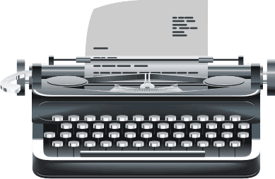 Retro Typewritter Vector