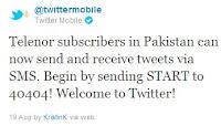 Telenor Pakistan Twitter