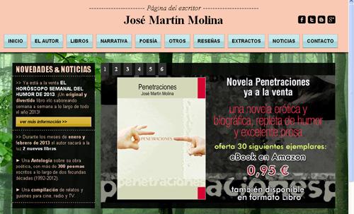 página web del escritor y poeta José Martín Molina
