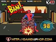 Spiderman chặt gạch, game vui nhộn