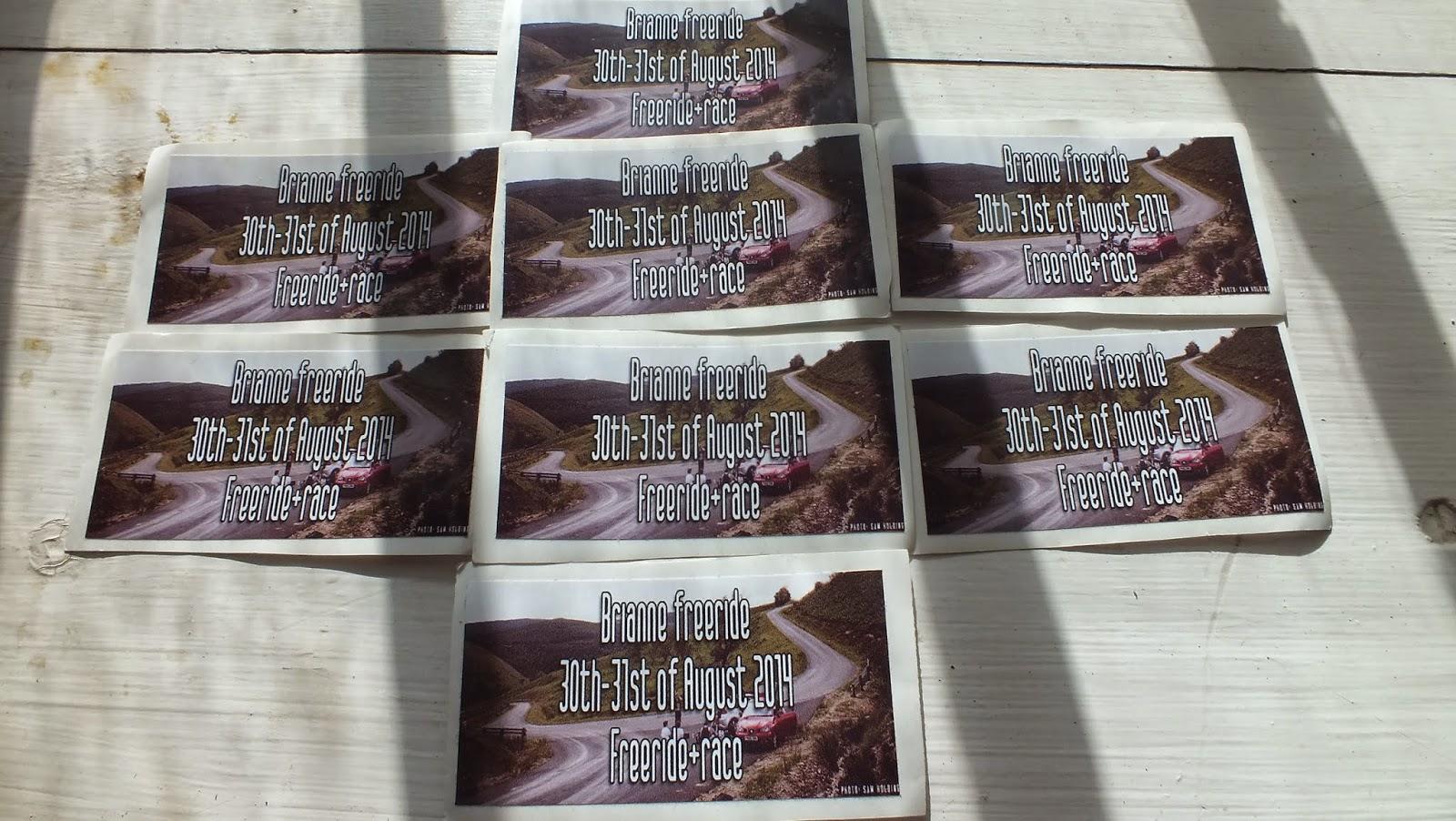 Brianne Freeride 2014 Discount Sticker Printing
