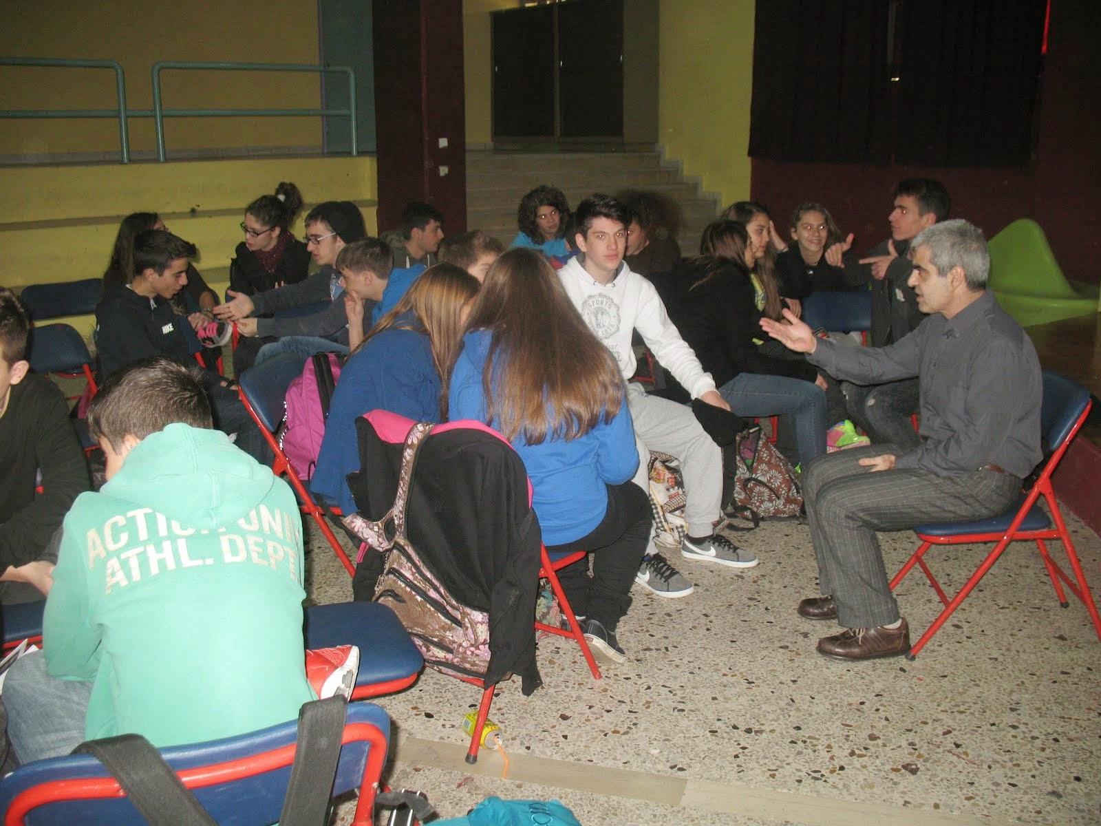 19 Δεκεμβρίου 2014, συνάντηση με το συγγραφέα Βασίλη Παπαθεοδώρου στο σχολείο μας