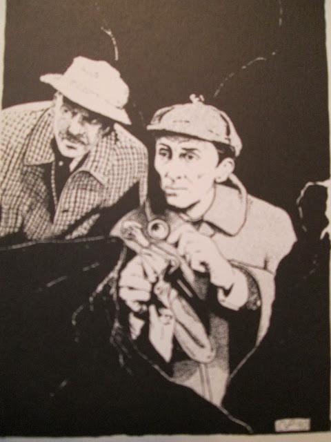 Cushing and Morrell as Holmes and Watson - Prepolec