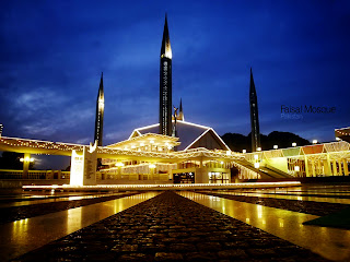 Faisal Mosque Pakistan HD Wallpaper