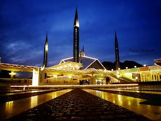 Faisal Mosque Pakistan HD Wallpaper
