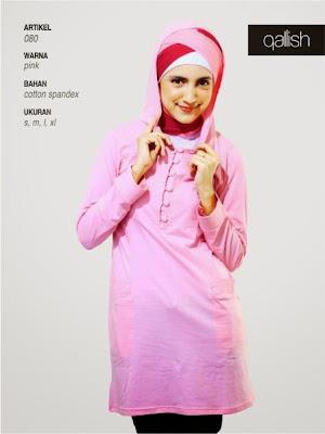 Busana Katun spandex Pink 080