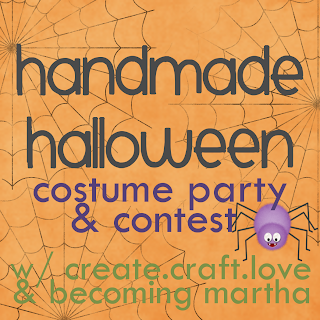 Handmade Halloween Costume Contest at createcraftlove.com #halloween #costumecontest