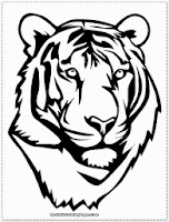 tiger head coloring pages printable