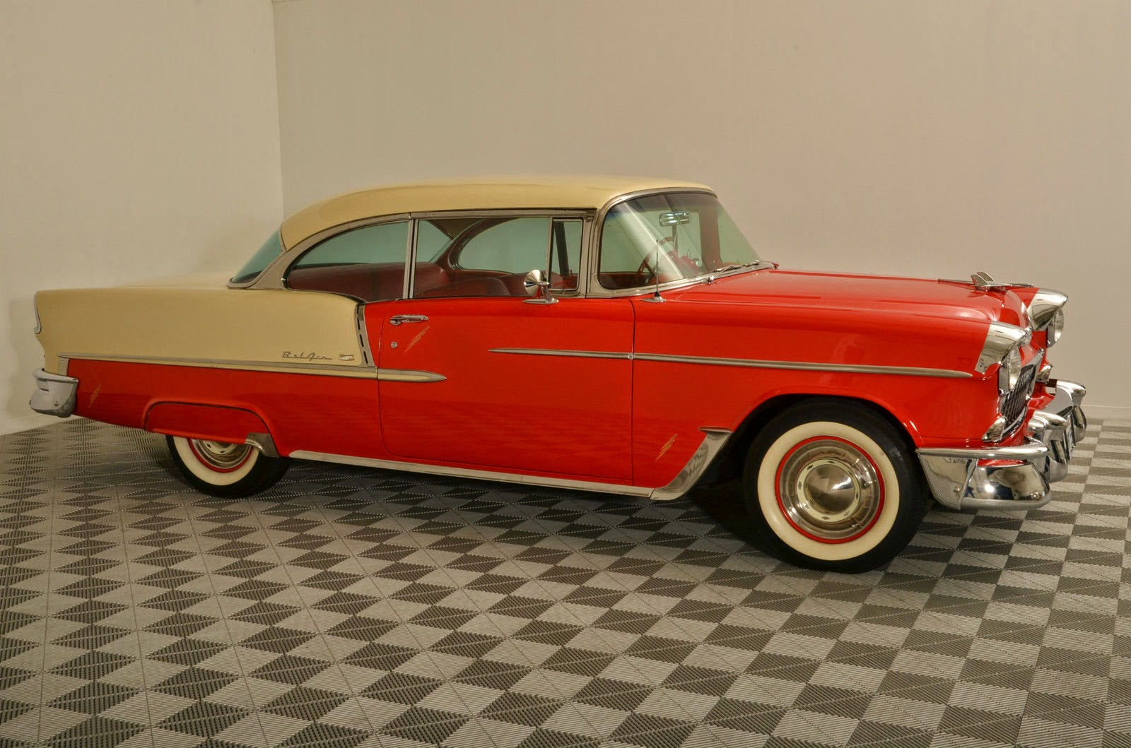 All American Classic Cars 1955 Chevrolet Bel Air 2 Door Hardtop Chevy Coupe Sport