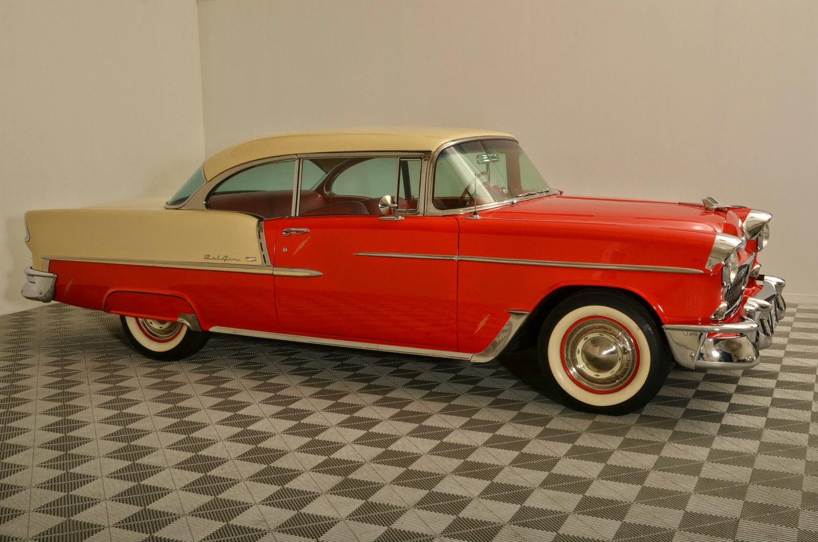 All american classic cars 1955 chevrolet bel air 2 door for 1955 chevy 4 door to 2 door conversion