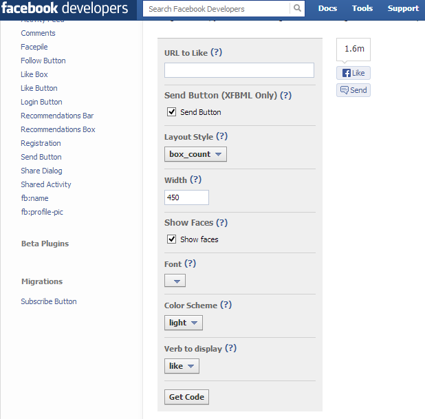 how to add facebook like button to shopify