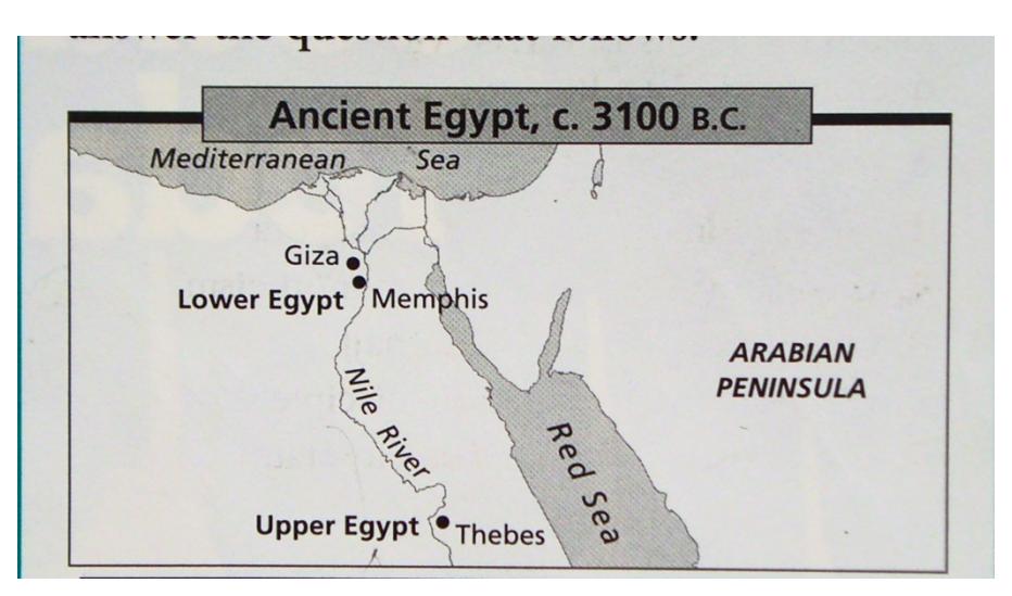 Egypt Map Quiz - Map of egypt quiz