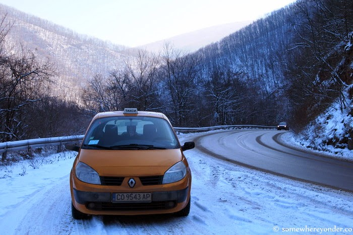 our ride to and from Sofia - parked up while I snapped photos of beautiful Lake Iskar - Bulgaria