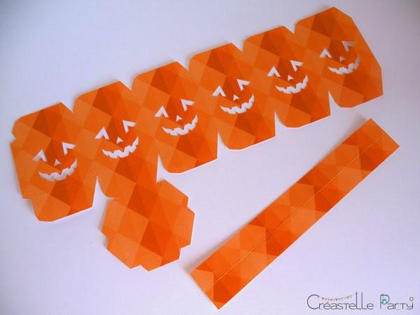 modèle découpé  DIY lanterne halloween
