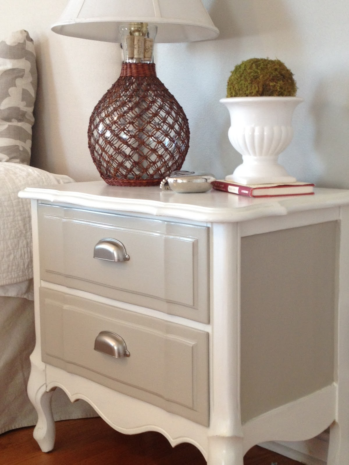 Two It Yourself Refinished Nightstand In Diy Chalk Paint