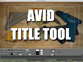 Building graphics in the Title Tool of the Avid Media Composer.