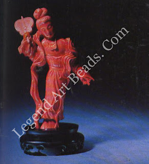 Figurine in red Coral