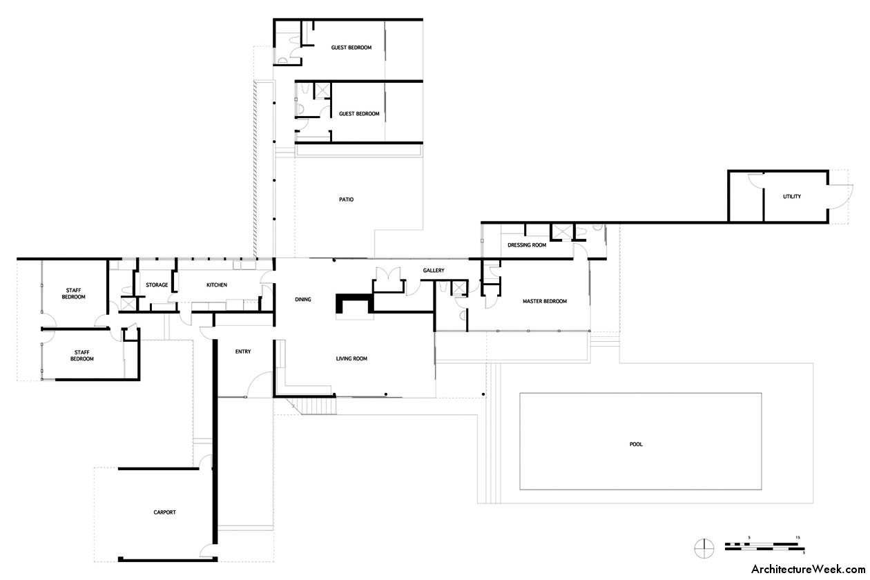 Kaufmann desert house ground floor plan for Home design layout plan