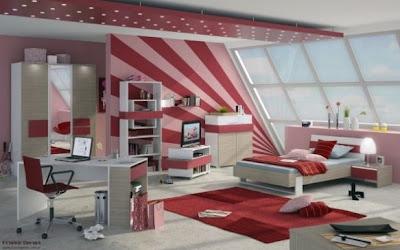 Uređena soba za tinejđerice