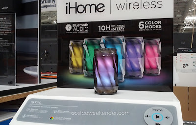 Play your music from any Bluetooth device with the iHome iBT70 Color Changing Speaker
