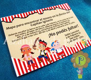 Invitaci  N De Jack Y Los Piratas De Nunca Jam  S