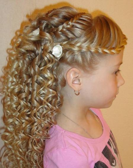 Детские прически на выпускной длинный волос